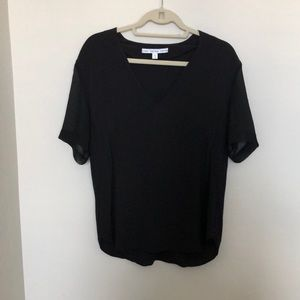 & Other Stories Black V-Neck Blouse